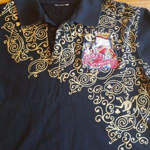 vintage avirex polo shirt